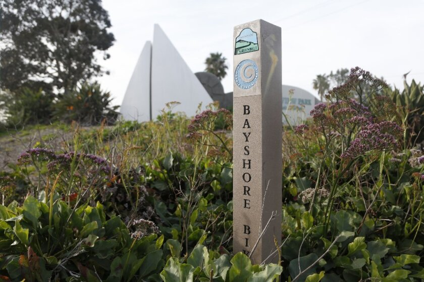 Bayshore Bikeway marker