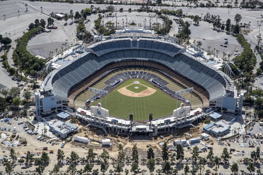Dodger Stadium aerial view