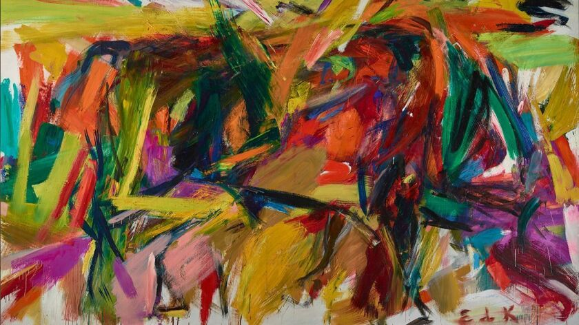 "Elaine de Kooning's ""Bullfight,"" 1959, is part of the Palm Springs Art Museum's ""Women of Abstract Expressionism"" exhibition, made possible with indemnity support from an NEA-administered program."