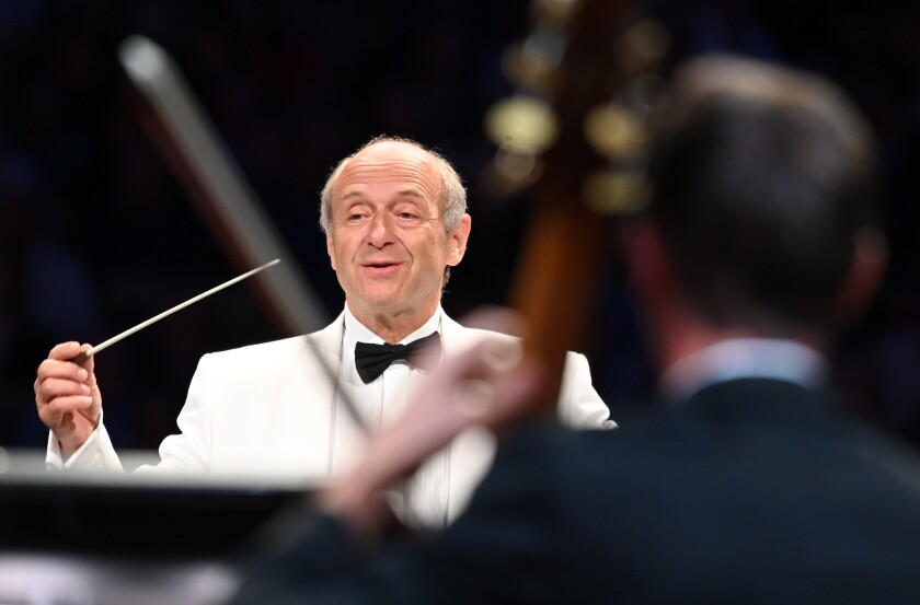 Iván Fischer conducts the Budapest Festival Orchestra at the Hollywood Bowl.