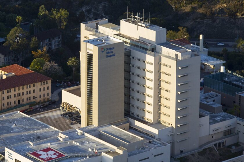 Scripps Mercy Hospital in Hillcrest topped a list of local hospitals that will see their Medicare reimbursements cut due to high readmission rates.