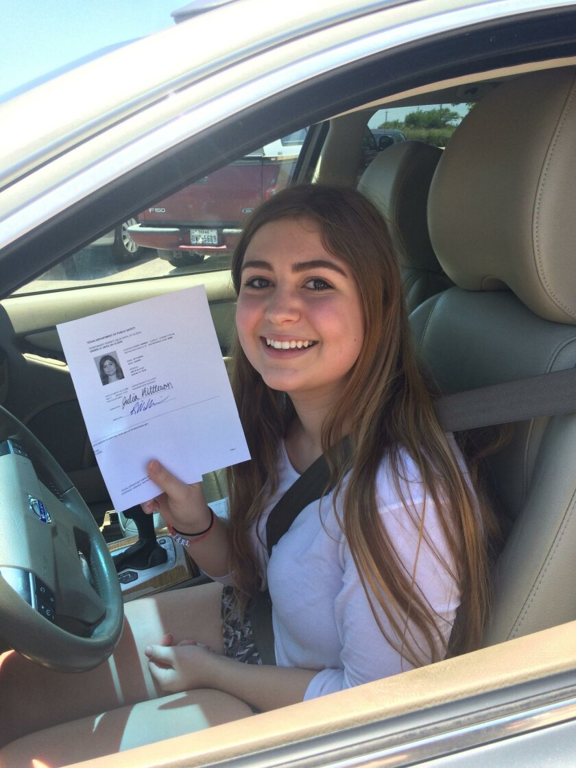 Julia Kittleson, 16, of Austin, TX. used Aceable to complete driver's ed curriculum on her smartphone. She started the program last fall and began driving in May.