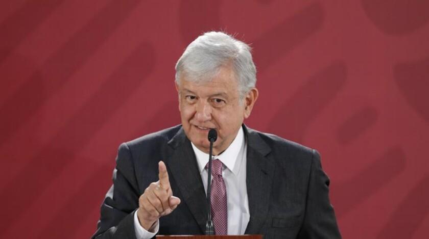Andr´és Manuel López Obrador, presidente de México.