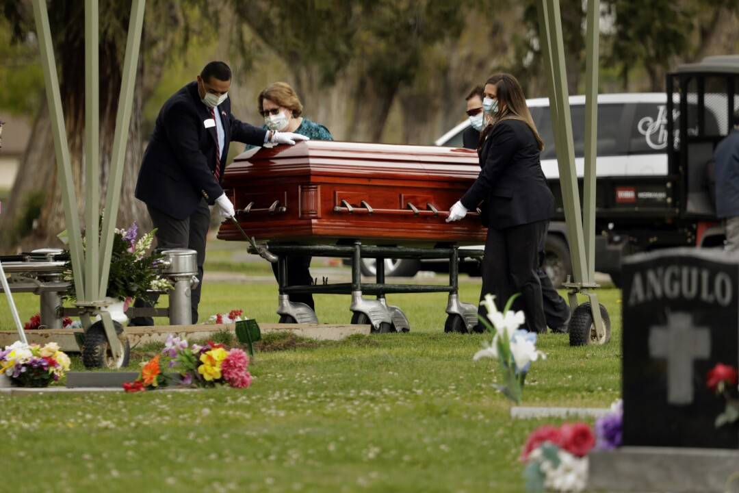 Wanda DeSelle, 76, died of COVID-19 on April 3 in Madera, Calif., where she worked in a medical office. Her family and friends had to attend her funeral from a distance.