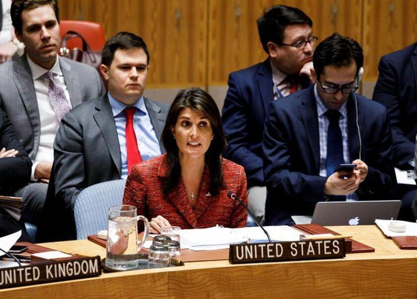 """En años anteriores, Washington había optado por la abstención, pero ayer, su embajadora en la ONU, Nikki Haley, anunció que su país cambiaría el voto, por considerar que dicha resolución es """"inútil"""". EFE /Archivo"""