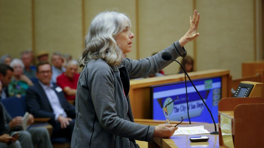 While addressing San Diego City Council during public comments on the issue of STRO (shot term resi