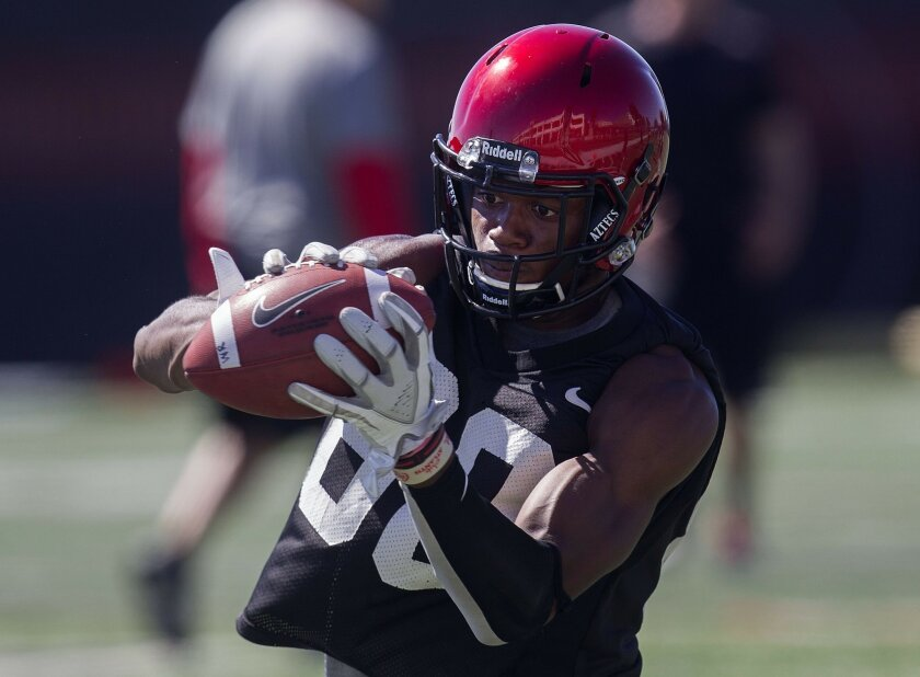Aztecs junior receiver Larry Clark was among three players released from the team for rules violations.