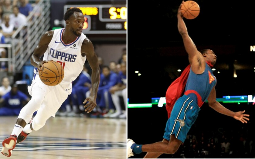 Patrick Beverley, left, and Dwight Howard will try to win contest titles again during All-Star weekend.