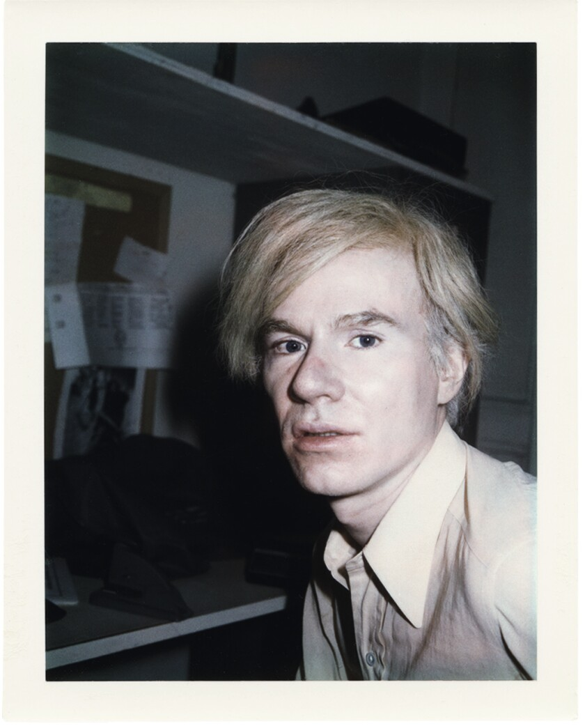 An undated Polaroid portrait of Andy Warhol by Brigid Berlin.
