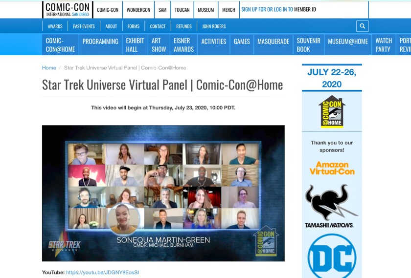 """Star Trek Universe"" panel"