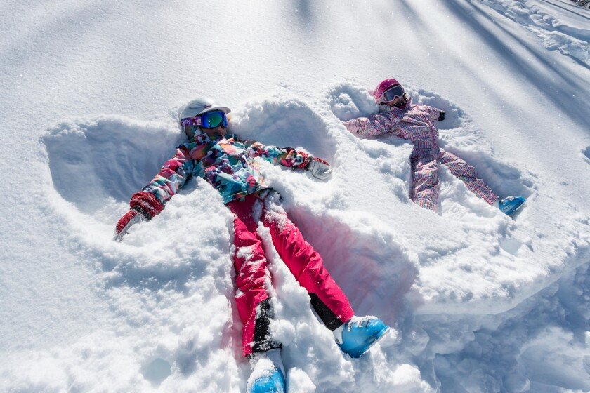 Snow angels at Deer Valley Resort