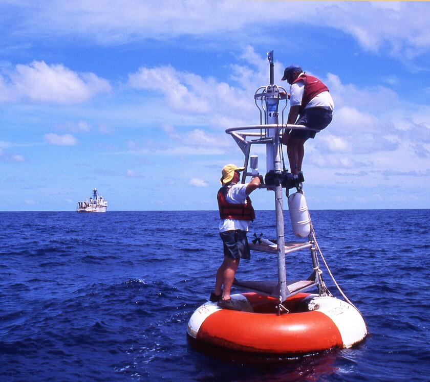 Federal scientists studied temperature readings from ocean buoys and weather stations around the world and determined that global temperatures did not plateau at the turn of the century, as had been previously concluded.