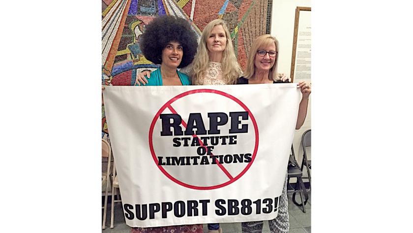 From left, Lili Bernard, Linda Kirkpatrick and Janice Baker-Kinney, all part of the Cosby 58.