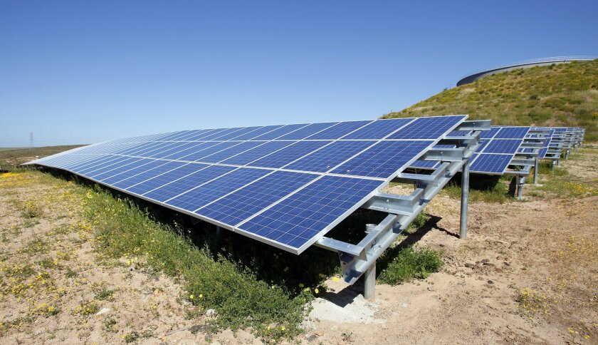 Solar energy powers the Otay Mesa Water Treatment Facility.