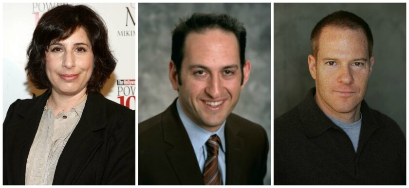 From (L-R): Sue Kroll, Greg Silverman and Toby Emmerich