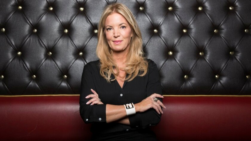 Jeanie Buss at the Belasco Theater on Sept. 13.