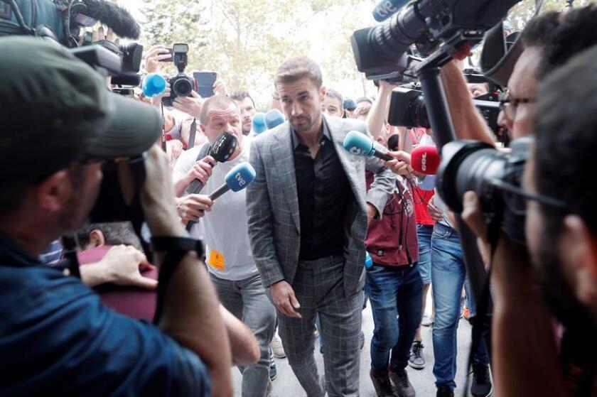 Los futbolistas acusados de amaños llegan a la Ciudad de Justicia de Valencia