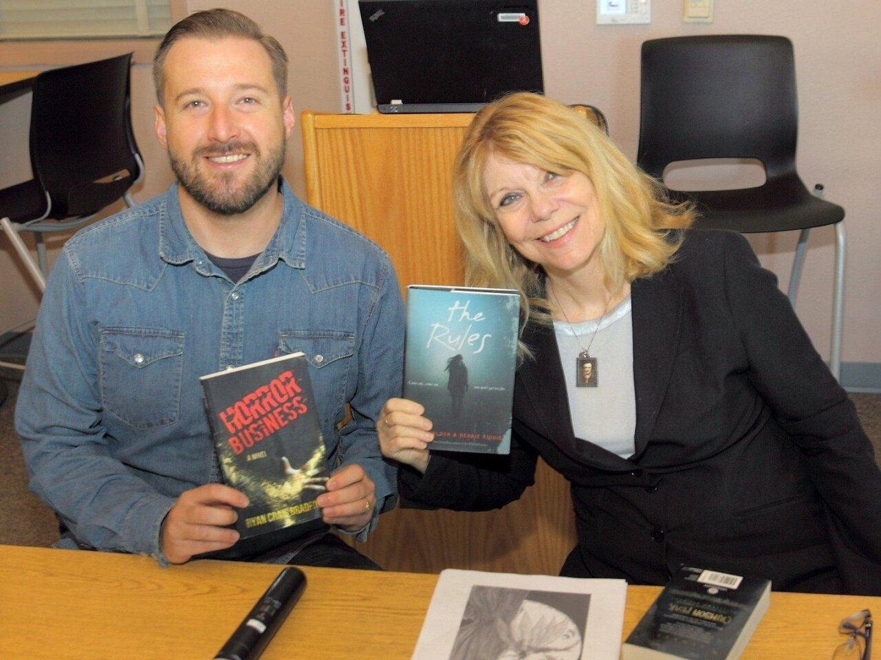 Authors Ryan Craig Bradford and Nancy Holder