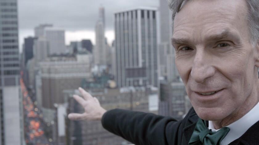 "Bill Nye in ""Bill Nye Science Guy,"" a PBS Distribution release. Credit: David Alvarado / Structure F"