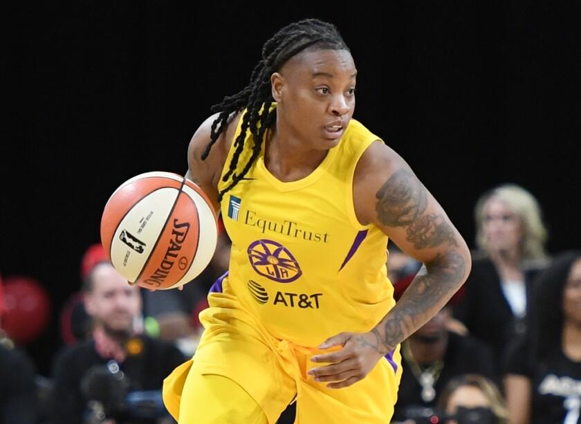 Sparks guard Riquna Williams.