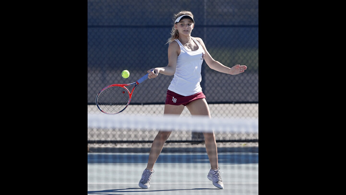 Photo Gallery: Marina vs. Laguna Beach in girls' tennis