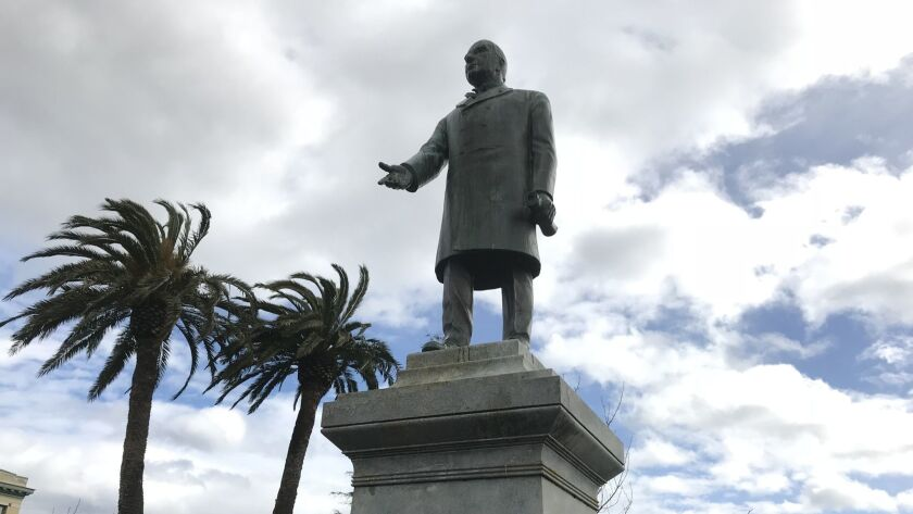 A statue of President William McKinley that has stood in the central plaza in Arcata, Calif., since 1906 is scheduled to come down by the of this year.