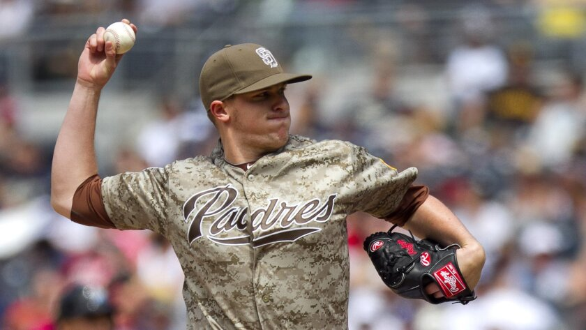 Padres reliever Brad Brach has stranded 32 of 34 inherited runners in 20 appearances this season.