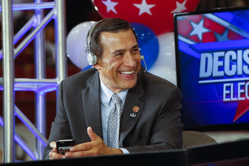 Former Rep. Darrell Issa to make announcement in El Cajon, Calif., on Thursday.