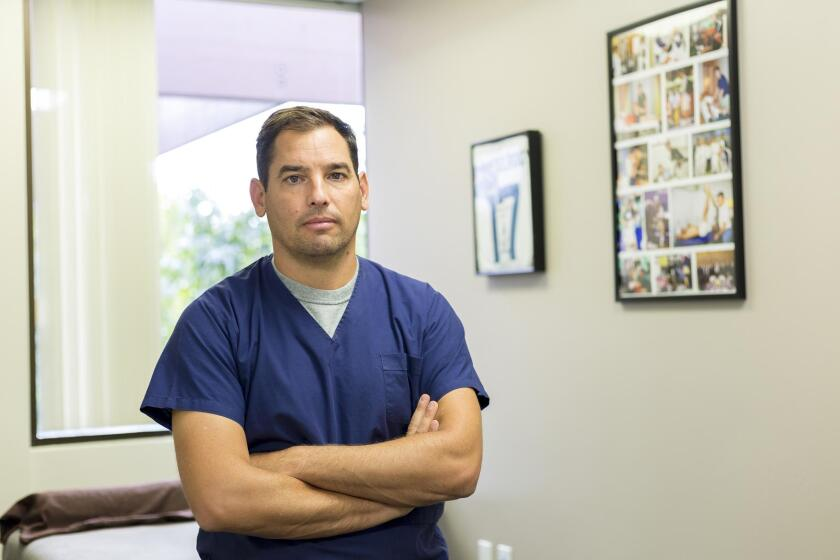 Massage therapist Juan Reque in his Del Mar offices. Injury Recovery Massage, 445 Marine View Ave., Suite 308, Del Mar. (844) 469-0704. juanreque.com