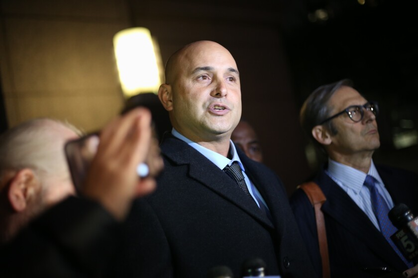 Craig Carton after pleading not guilty at his arraignment in Manhattan Federal Court last November.