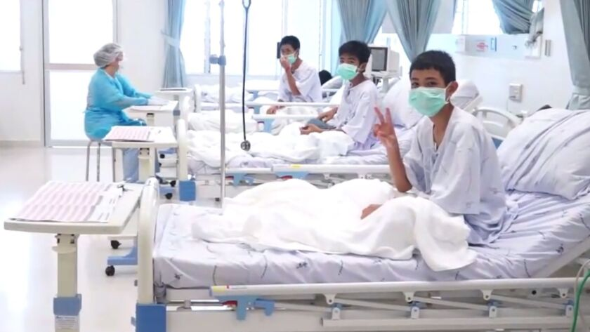 Boys trapped in Thai cave were drugged for risky rescue