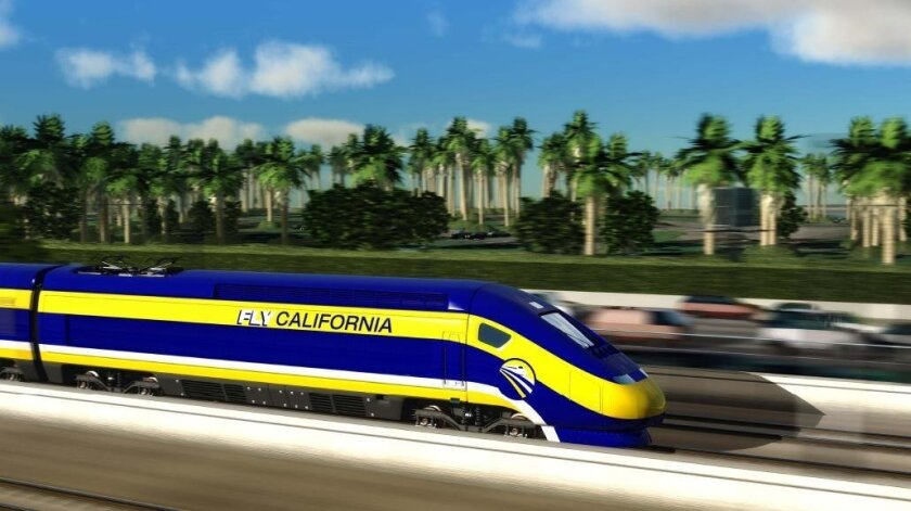 Rendering from the High-Speed Rail Authority
