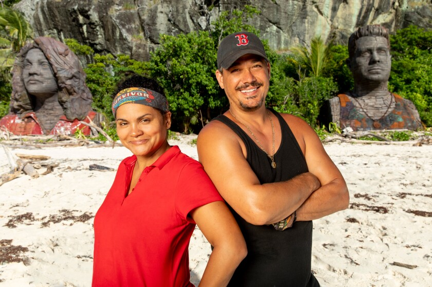 "Sandra Diaz-Twine and Rob ""Boston Rob"" Mariano came back as mentors for ""Survivor: Island of the Idols."""