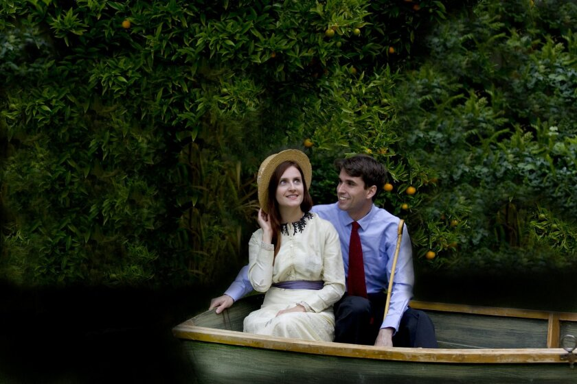 "Kelly Iversen and Kyle Lucy star in New Village Arts Theatre's production of the Eugene O'Neill comedy ""Ah, Wilderness!"""