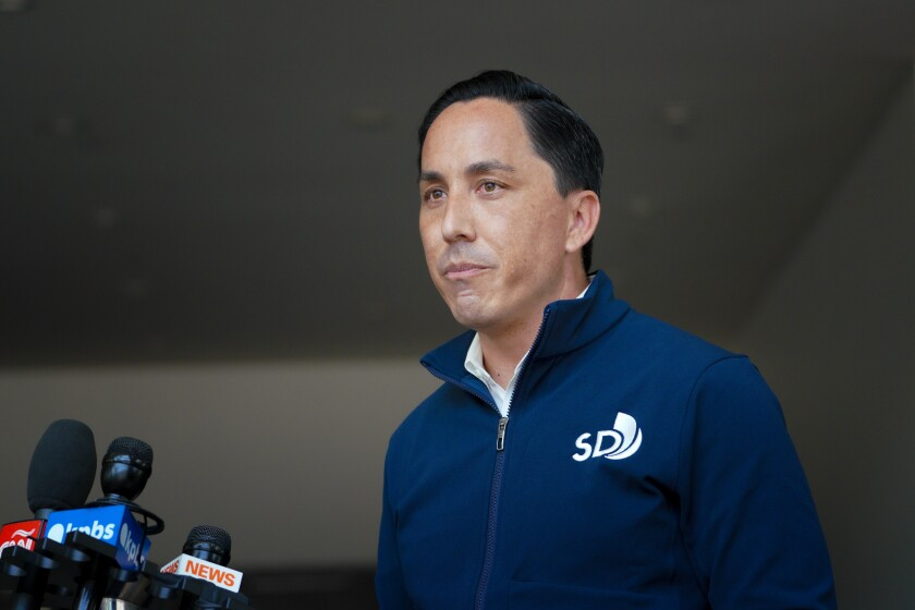 Todd Gloria at a recent visit to the San Diego Convention Center