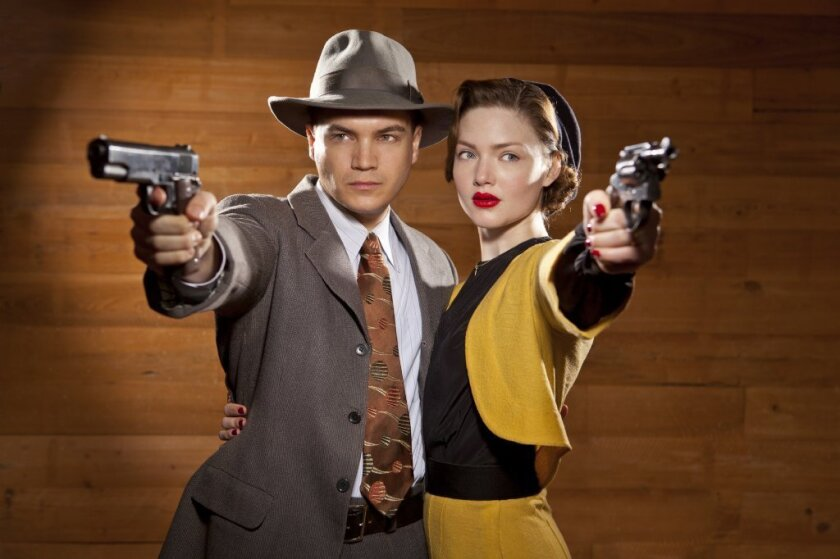 """Emile Hirsch and Holliday Grainger in A&E's """"Bonnie & Clyde."""""""