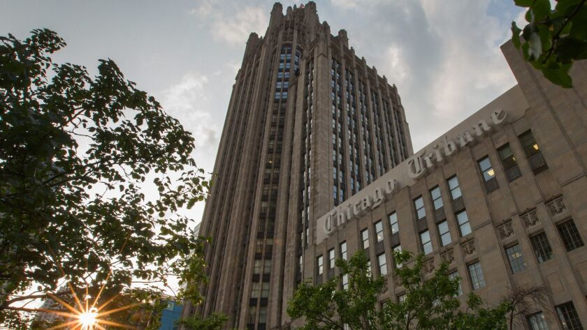 The Tribune Tower, Thursday, July 31, 2014. B583904740Z.1 ....OUTSIDE TRIBUNE CO.- NO MAGS, NO SAL
