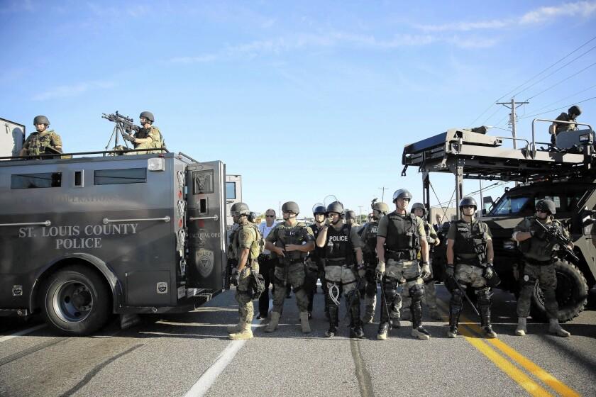 Police presence in Ferguson, Mo.