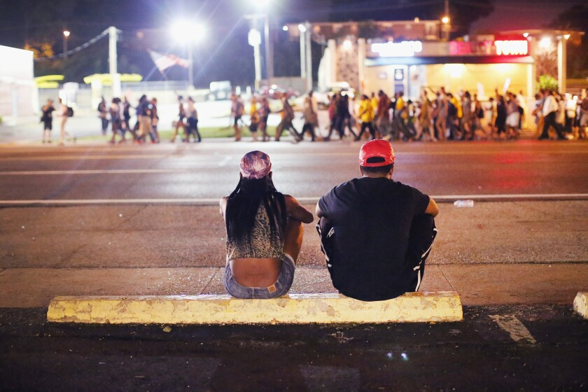 Peaceful protests in Ferguson, Mo.