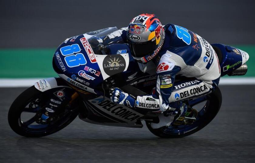 En la imagen, el piloto español del equipo Del Conca Gresini de Moto3, Jorge Martín. EFE/Archivo