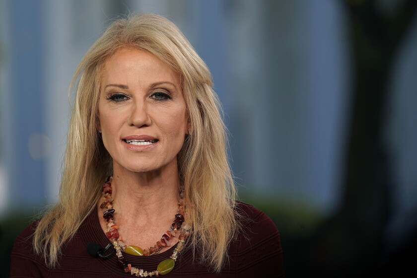 """Kellyanne Conway does not believe Justice Brett Kavanaugh is """"tainted"""" by the sexual assault allegations plaguing him."""