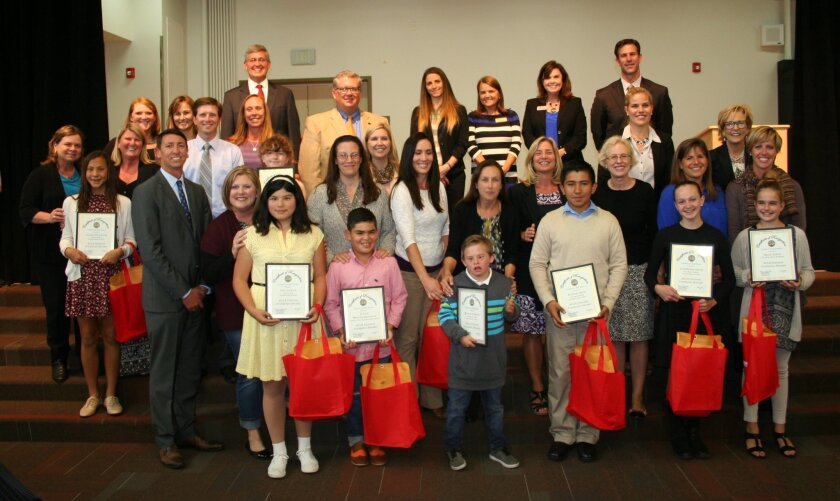 Del Mar Union School District students were among 49 area students honored.