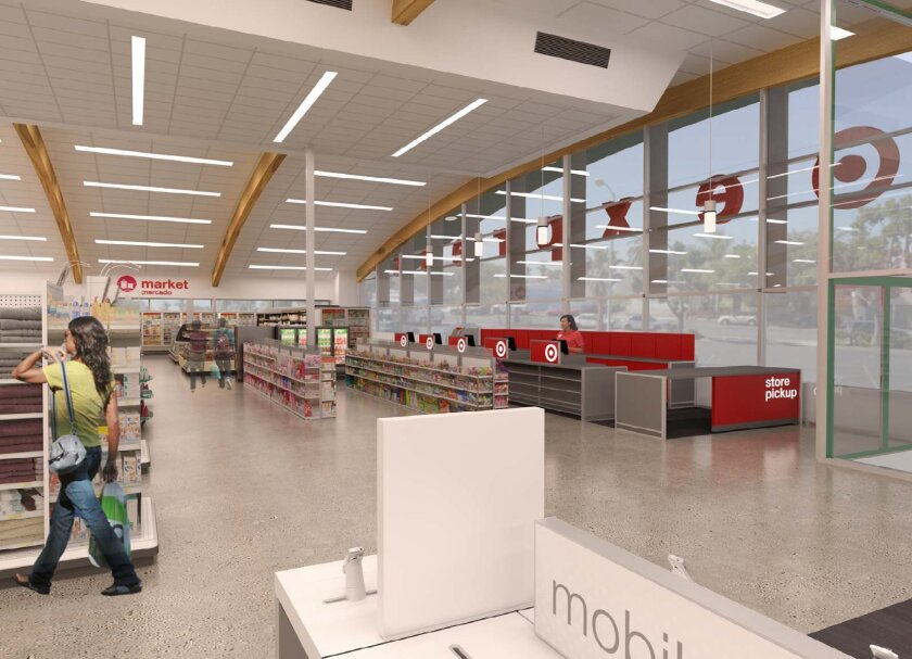 Rendering of the front portion of Target's new TargetExpress store, slated to open in South Park this October.