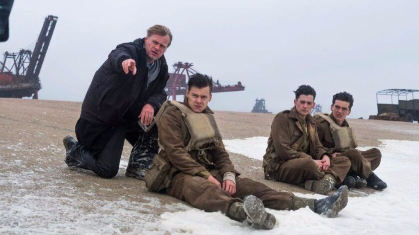 Director/writer/producer Christopher Nolan, Harry Styles, Aneurin Barnard and Fionn Whitehead on the