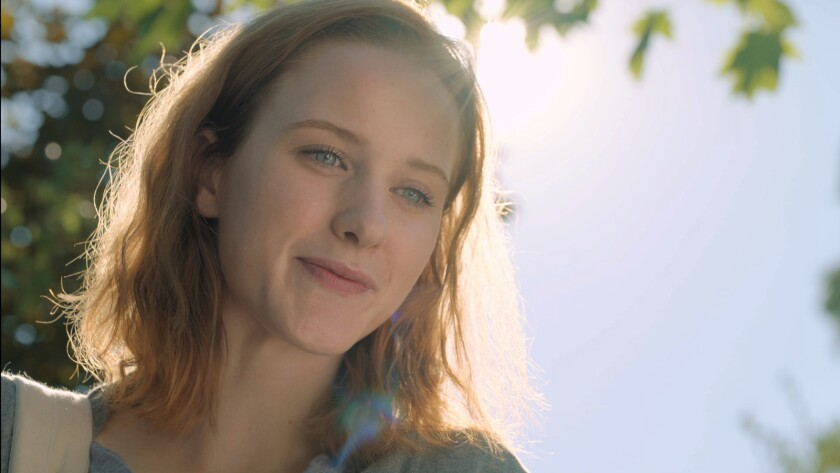 "Rachel Brosnahan in the movie ""Change in the Air."""