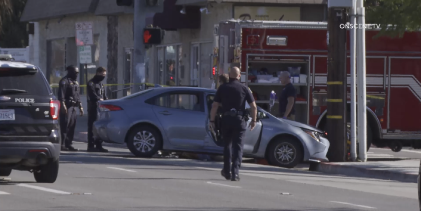 San Diego police were investigating a shooting that left a a driver dead in the College Area on Sunday.