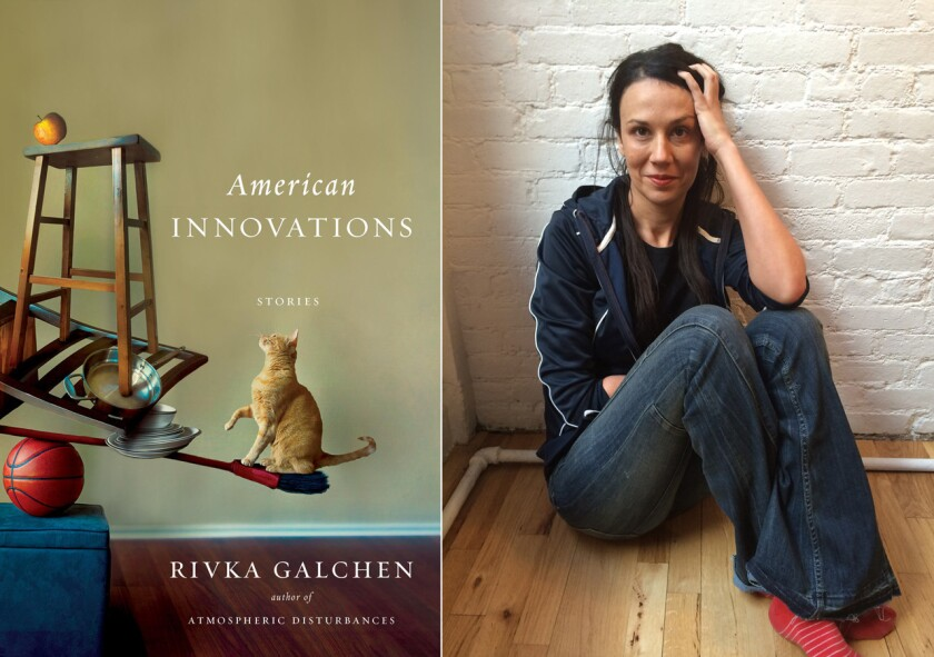 """The cover of """"American Innovations"""" and author Rivka Galchen."""