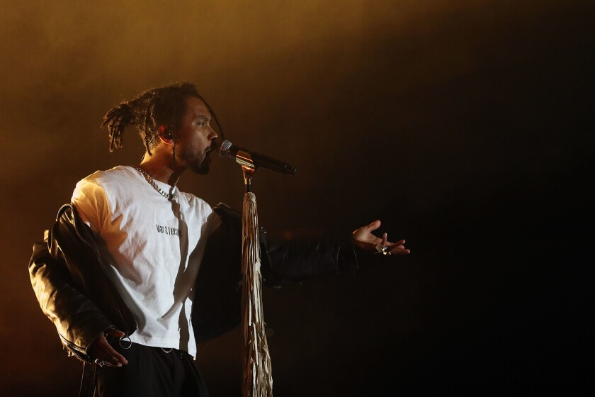 Miguel (above) will headline Friday night at San Diego's new Wonderfront Music & Arts Festival.