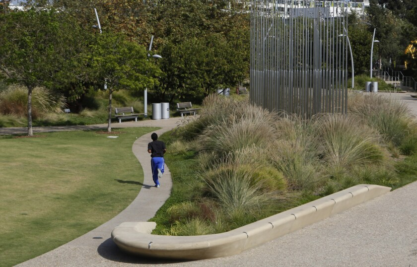 Photos: Tongva Park in Santa Monica proves a paradise can grow from a paved parking lot