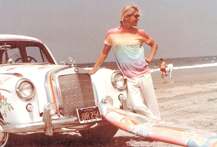 Mike Hynson (shown in 1975) will be among the La Jolla surfers inducted into the San Diego Surfing Hall of Fame's during its inaugural induction ceremony, Aug. 13 at the Belly Up Tavern in Solana Beach.